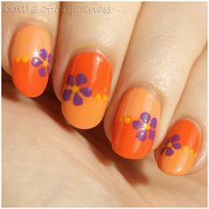 Q by Colour Alike 152 Dyńka + Q by Colour Alike 154 Mechaniczna pomarańcza + acrylic paint #nails #nailart