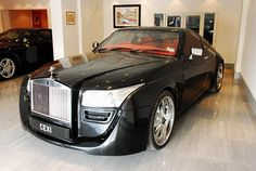 This one off Rolls Royce Coupe is the work of DC Design and was built for an Indian Maharaja. Called the Black Ruby, this unique Rolls Royce has been modified Rolls Royce Coupe, Rolls Royce Phantom Coupe, My Dream Car, Dream Cars, Dream Big, Rolls Royce Concept, Rolls Royce Silver Spirit, Maybach Exelero, Duesenberg Car