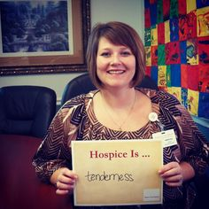 Hospice is tenderness. #hospicemonth