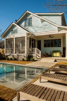 Love the back of this house and back yard!! House of Turquoise: Renewal Design-Build