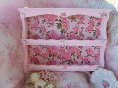 OMG.....Gorgeous Shabby Chic Pink Hanging Shelf Roses Cottage. $32.00, via Etsy.