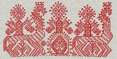 Ukrainian embroidery. The image of the Great Mother is one of the sacred symbols Trypillja. It became favorite in folk embroidery