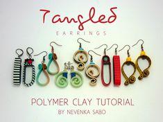 Polymer clay tutorial Tangled earrings от ArtStudioKatherine