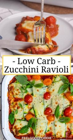 Zucchini Ravioli, Zucchini Lasagna Recipe Easy, Low Carb Zucchini Lasagna, Cheese Ravioli, Healthy Meal Prep, Healthy Eating, Healthy Sweets, Healthy Light Dinners, Healthy Snacks To Buy