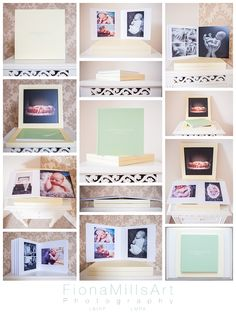 Baby book by Graphistudio. Client chose Lustre paper with a pale yellow box and pastel green book Green Books, Chichester, Photography Services, Gallery Wall, Pastel, Yellow, Box, Frame, Home Decor