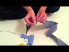 Video tutorial on how to make a fabric rosette