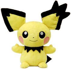 Takara Tomy Pokemon Plush Doll Big Pichu 피츄 .shopper plastic bag With gifts #TakaraTomy
