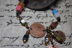 Square Bead and Coin Bracelet