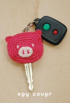 Piggy key cover pattern