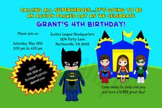 Superhero Boy / Girl / Card / Invitation / by 2CutePartyPrints, $7.99