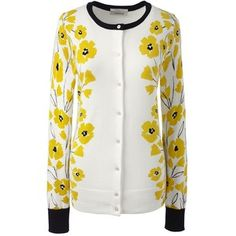 Lands' End Women's Petite Supima Print Cardigan Sweater
