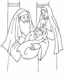 Simeon, Anna, and baby Jesus (Luke 2)