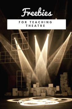free stuff and lesson plans for creative dramatics and drama class Drama Teacher, Drama Class, Acting Class, Drama Drama, Drama Theatre, Theater, Theatre Games, Musical Theatre, Amigurumi