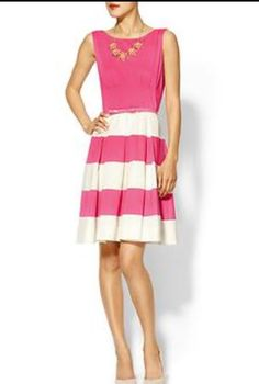 "Hot pink & white Kate Spade ""Cecilia"" Dress"