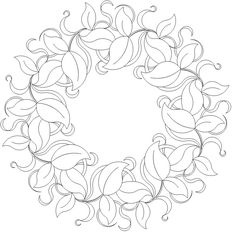 Leave and Ribbons Wreath - 502