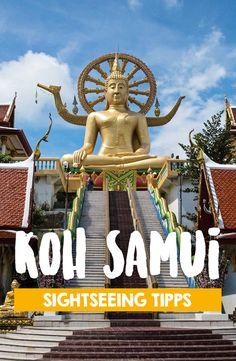 Der Big Buddha von Koh Samui, eines der Wahrzeichen der tropischen Insel in Thailand. Du willst nach Koh Samui und brauchst Tipps zu Sehenswürdigkeiten und Aktivitäten oder möchtest die Strände entdecken? Dann solltest du unseren Artikel zu 16 Dingen, die du auf Koh Samui machen kannst nicht verpassen! Koh Samui Thailand, Ko Samui, Phuket, Koh Phangan, Thailand Travel Guide, Backpacking Thailand, Khao Lak, Last Minute Travel, Koh Tao