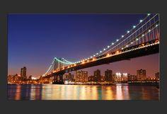 Stampa su Tela 'New York  il ponte di Brooklyn'