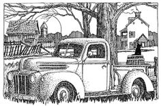 Impression Obsession - Cling Stamp - Classic Truck - By Gary Robertson,$8.59