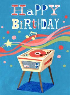 Record Player Birthday' ~ Hui Skipp