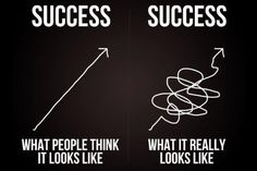 The path to success is not a straight line! #Quote