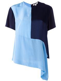 Diane Von Furstenberg Asymmetrisches Seiden-T-Shirt