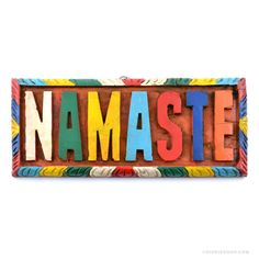 Namaste Painted Wooden Wall Art