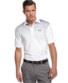 Under Armour Gimmie Printed Performance Golf Polo - Polos - Men - Macy's Mens Golf Fashion, Stylish Mens Outfits, Golf Wear, Golf T Shirts, Golf Outfit, Polo Shirt, Men's Polo, Under Armour, Shirt Designs