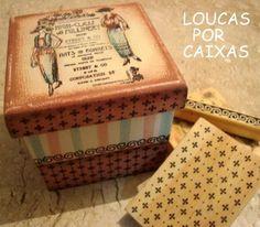 CAIXA DAMAS COM CARIMBOS PARA ARTESANATO - Loucas por caixas - Terra Fotolog