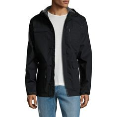 Tavik Swimwear Men's Ruger Jacket - Size L ($109) ❤ liked on Polyvore featuring men's fashion, men's clothing, men's outerwear, men's jackets, no color, mens jackets, mens short sleeve jacket, mens hooded jackets and mens zip up jackets