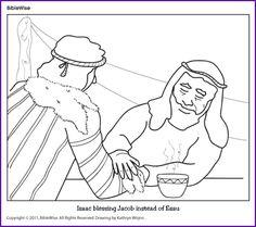 Coloring (Isaac Blessing Jacob) - Kids Korner - BibleWise