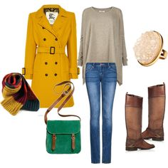 my first creation on Polyvore. Casual day in fall/ winter.