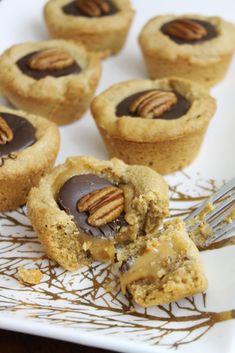 Peanut Butter Turtle Cookie Cups Recipe