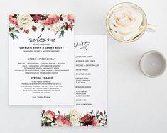 Wedding Program Book Template Printable Wedding Program Catholic