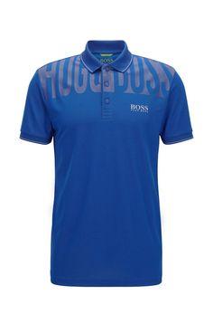 Hugo Boss Shirts, Slim Fit Polo, Polo Blue, Hugo Boss Man, Brand Collection, Men Clothes, Polo Shirts, Sports Logo, Man Style