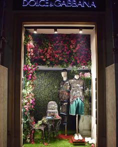 """DOLCE&GABBANA, Via Della Spiga, Milan, Italy, """"Got to get Back to the Garden"""", photo by Window Shopping Only, pinned by Ton van der Veer"""
