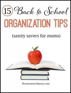 15 tips for busy families -  for a less stressful school year!