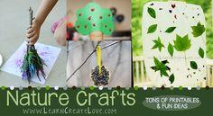 nature crafts, LearnCreateLove.comnature