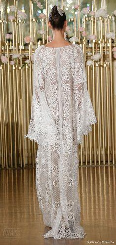 francesca miranda spring 2018 bridal long sleeves beaded lace v neck kaftan caftan wedding dress(tabatha) bv bohemian