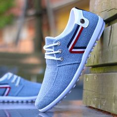 Buy it before it ends. There is always many products on sae upto - 2019 men Casual Shoes mens canvas shoes for men shoes men fashion Flats brand fashion Zapatos de hombre - eTrendings Moda Sneakers, Sneakers Mode, Shoes Sneakers, Shoes Men, Sperry Shoes, Allbirds Shoes, Sneaker Boots, Leather Sneakers, Mens Fashion Shoes