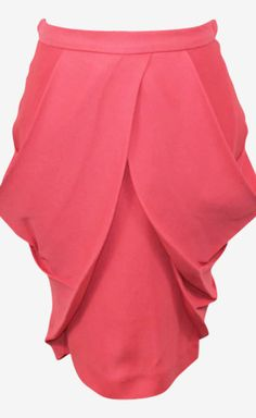 Miu Miu Pink Skirt..... Is it just me or does this skirt remind you a little bit of a vagina?