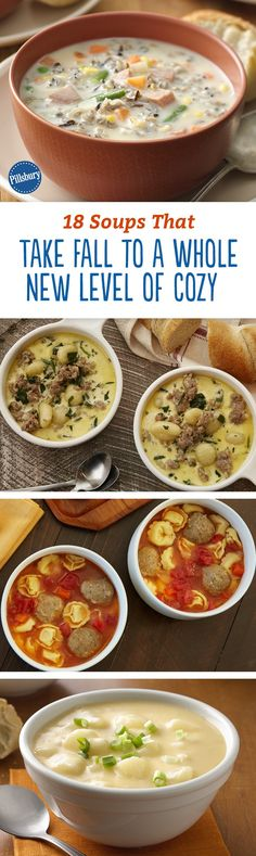 Fall is for cozying up to a bowl of soup, and these 18 recipes take that feeling to the next level. Totally delicious and easy to make, we bet you'll be making these soup recipes over and over again for months.