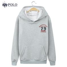 Royal Queen's Polo Team 2017 new velvet thickening Hooded  Hip Hop Hoodie Fashion Brand Clothing Sweatshirts coat