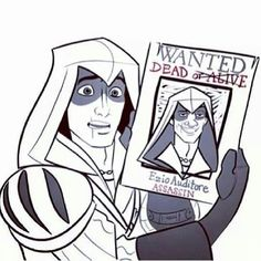 """""""They just can't get my nose right!"""" The funny thing is; Ezio & Flynn look quite similar. If anyone could be Flynn, it'd be Ezio. Assassins Creed Memes, Assassin's Creed I, Connor Kenway, Video Games Funny, Dragon Age, Skyrim, Game Character, Nerdy, Fandoms"""