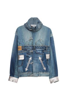 Iconic Unisex Jacket re-edition of the original Desigual jacket made from jean scraps with leather embellishments. New Desigual collection. Unisex, Sport, The Originals, Jackets, Shopping, Collection, Fashion, Down Jackets, Moda