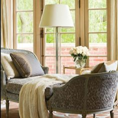 Quiet reading corner in master bedroom