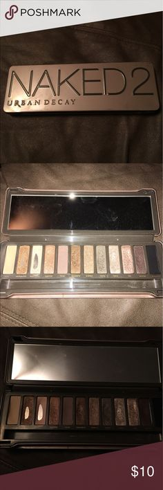 Urban Decay Naked 2 Palette Used UD Naked 2 Palette - the best Naked palette! Obviously pan hit on the second and third colors, but there's still plenty to get out of it. Make me an offer! Urban Decay Makeup Eyeshadow