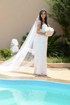 Vestido de Noiva feito sob medida - Noiva Priscilla - Renda Guippir - Laçarote - Catalão GO