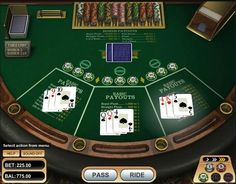 100% Free play on the Ride'm Poker casino game at 1OnlineCasino.com