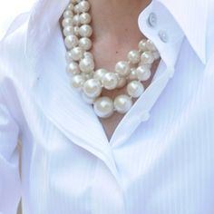 classic white and pearls...  timeless style