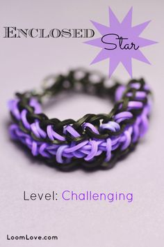 Learn how to make an Enclosed Star Rainbow Loom Bracelet